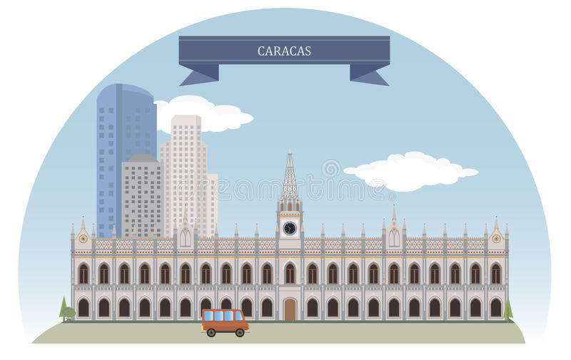 CARACAS VENEZUELA royaltyfri illustrationer