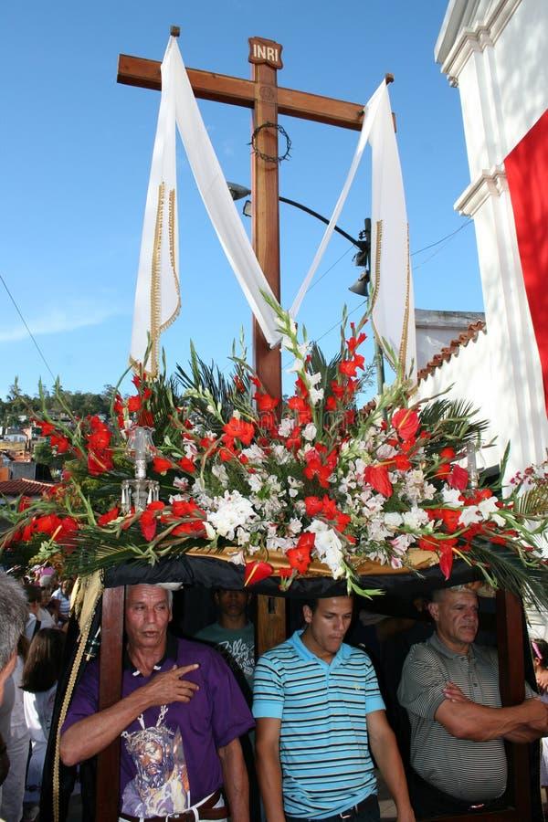 CARACAS, VENEZUELA - April 10, 2009 - Goede Vrijdag, Pasen Celebtations royalty-vrije stock afbeeldingen