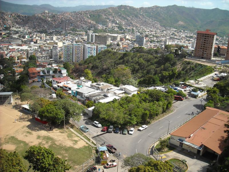 Caracas Venezuela. Baseball field seen from above which is close to the San Agustin neighborhood.  royalty free stock image