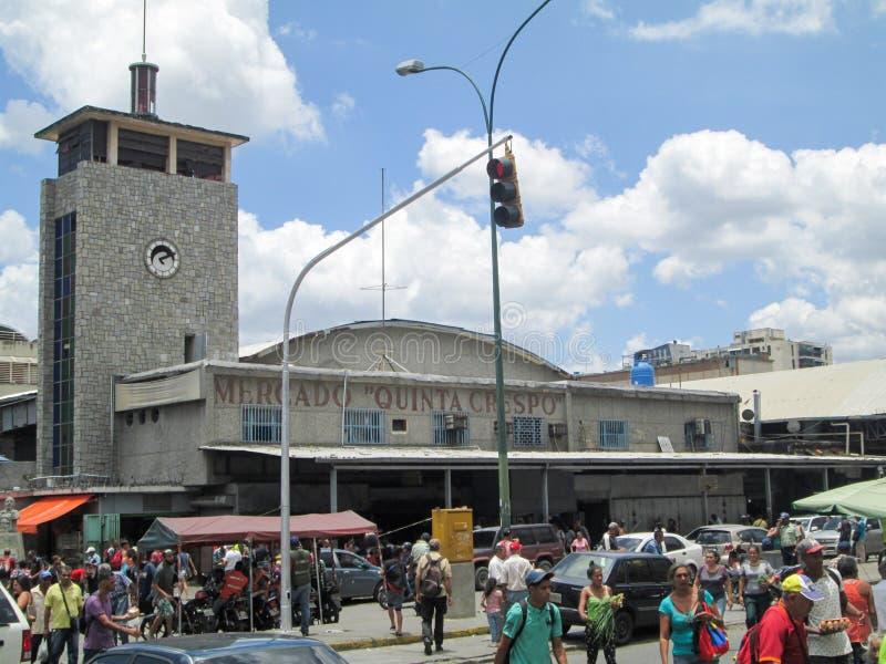 Caracas, Venezuela.Iconic popular market in downtown Caracas, Quinta Crespo Market.  royalty free stock images