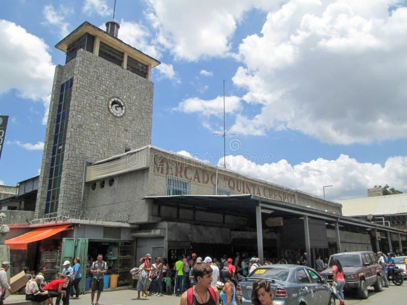 Caracas, Venezuela.Iconic popular market in downtown Caracas, Quinta Crespo Market.  royalty free stock image