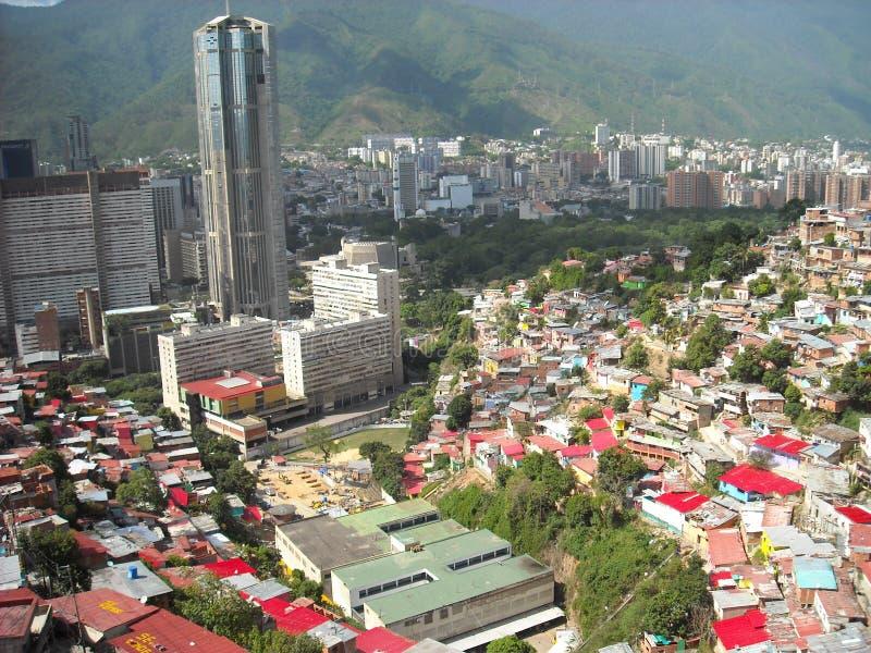 Caracas, Venezuela. View of colored houses in slum in San Agustin neighborhood.  royalty free stock photography