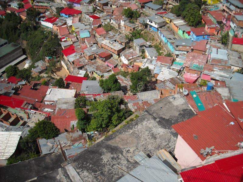 Caracas, Venezuela. View of colored houses in slum in San Agustin neighborhood.  stock photos