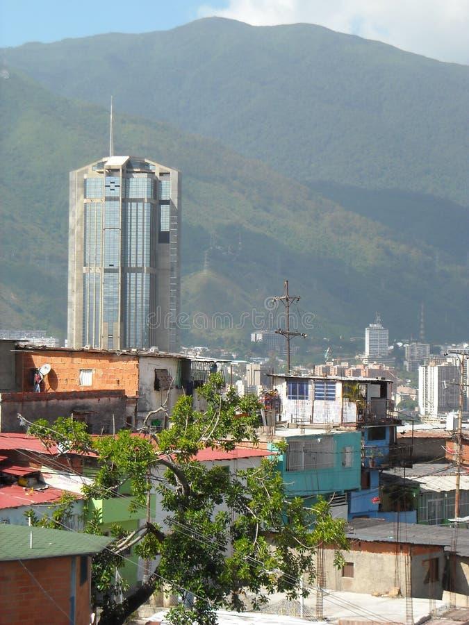 Caracas, Venezuela. View of colored houses in slum in San Agustin neighborhood.  royalty free stock images