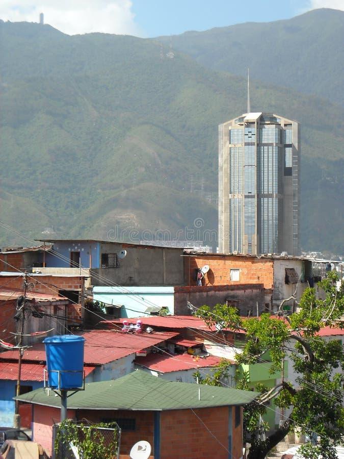 Caracas, Venezuela. View of colored houses in slum in San Agustin neighborhood.  stock images
