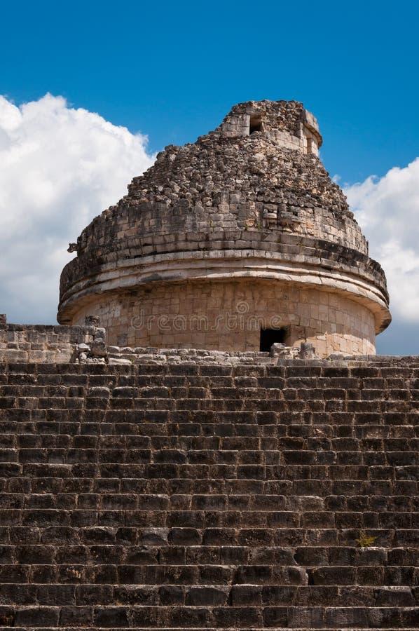 caracol chicen обсерватория Мексики itza el майяская стоковые фото
