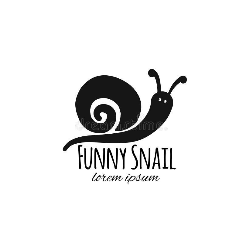 Caracol divertido, silueta negra para su diseño libre illustration