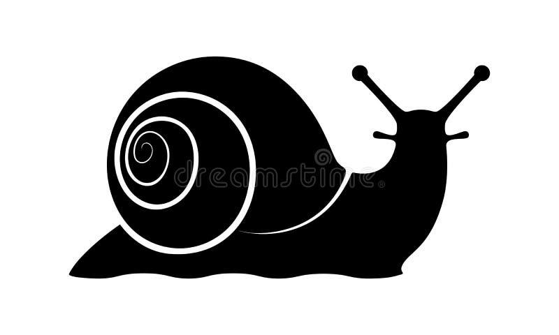Caracol negro de la muestra libre illustration