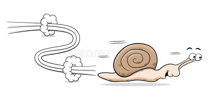 Caracol rápido ilustración del vector
