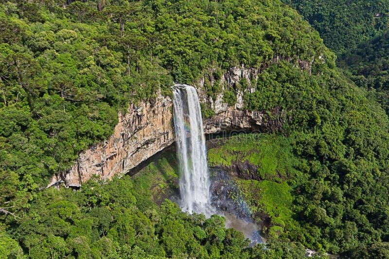 Caracol vattenfall - den Canela staden, Rio Grande gör Sul - Brasilien arkivfoton