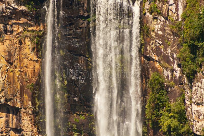 Caracol Waterfall in Canela - Rs - Brazil. City in the south of Brazil. View of the waterfall in summer day royalty free stock photo