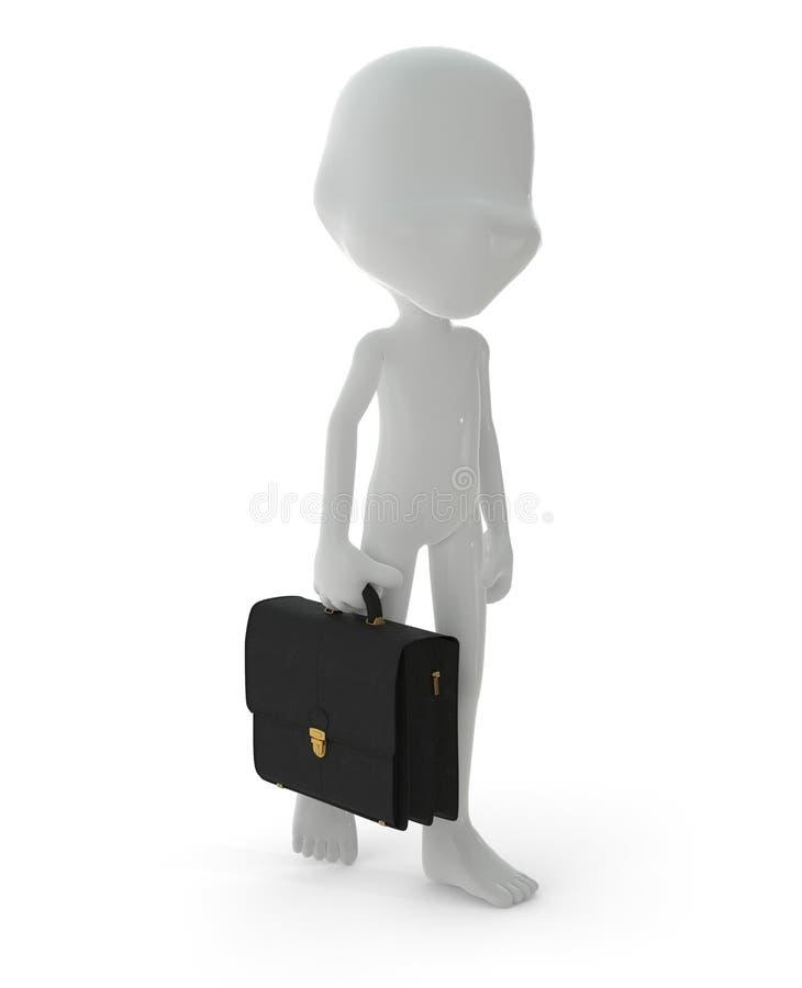 caractère 3D : concept d'homme d'affaires illustration libre de droits