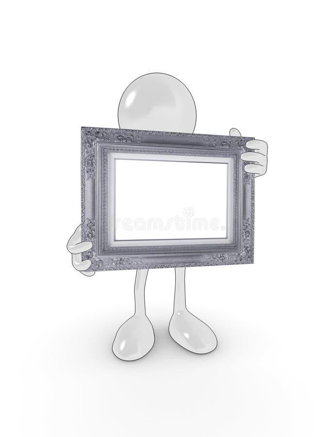 Caractère blanc de trame illustration de vecteur