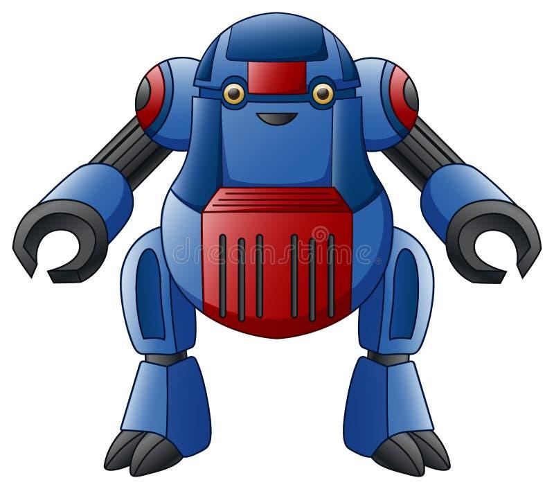 Caractère bleu de robot d'isolement sur le fond blanc illustration libre de droits