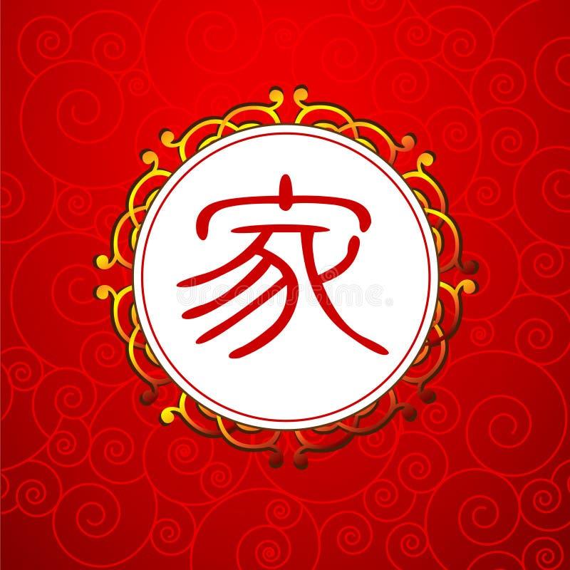Caractère chinois pour le famille illustration libre de droits