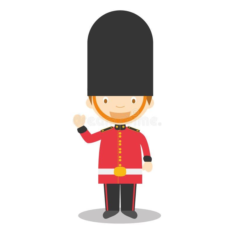 Garde Royale Angleterre Illustration De Vecteur