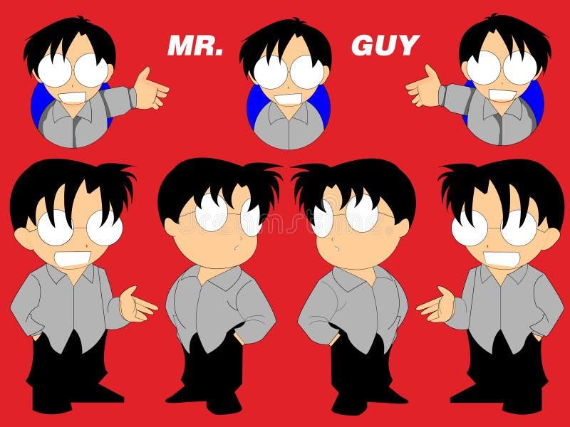 Caractère d'Anime de Chibi illustration libre de droits