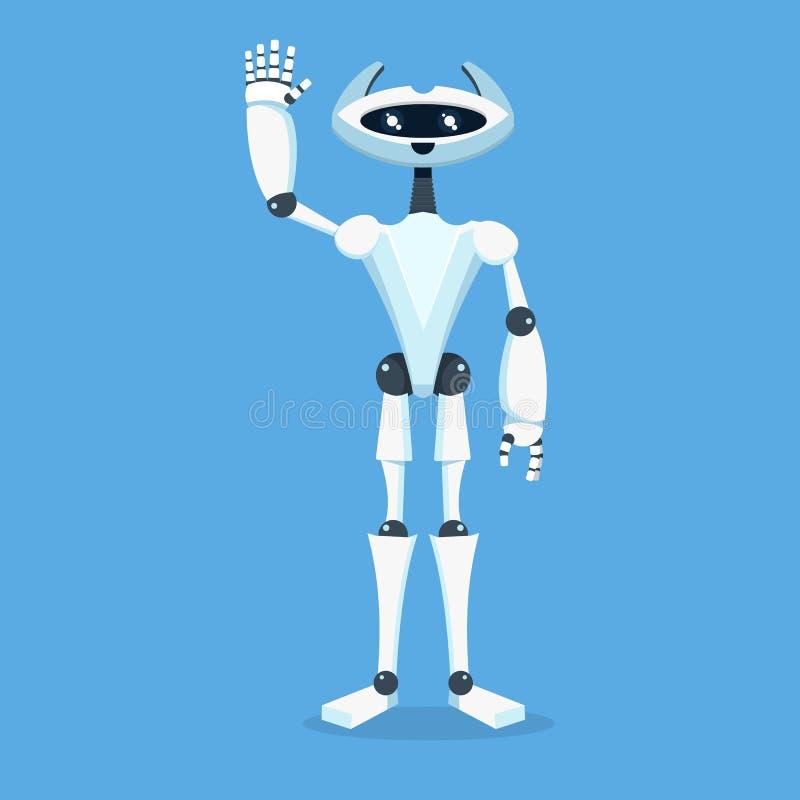 Caractère d'assistant de robot Icône de Chatbot illustration de vecteur