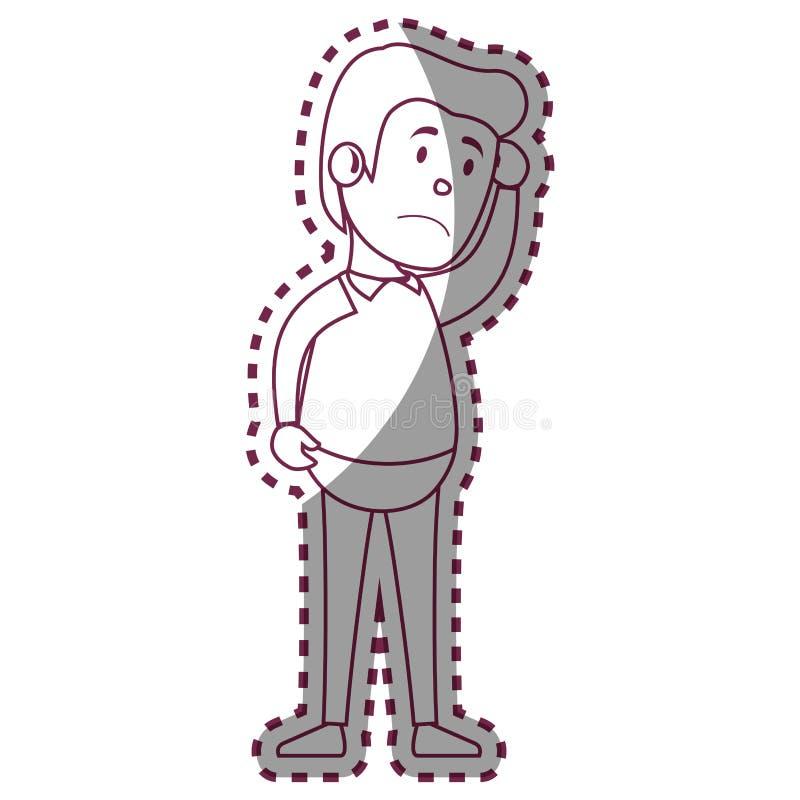 Caractère d'avatar de patient psychiatrique illustration stock
