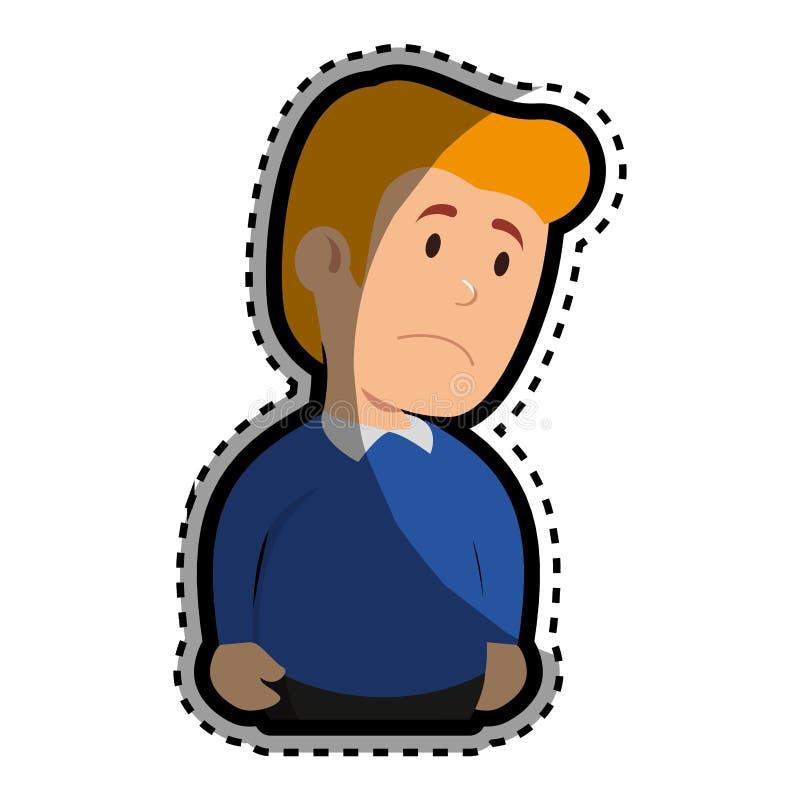 Caractère d'avatar de patient psychiatrique illustration de vecteur