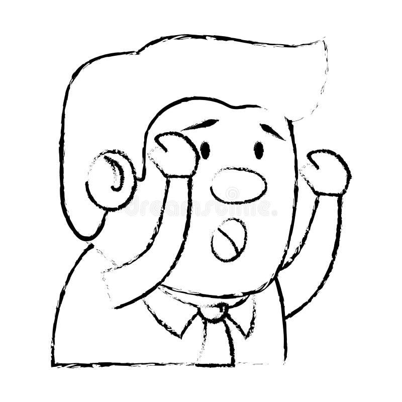 Caractère d'avatar de patient psychiatrique illustration libre de droits