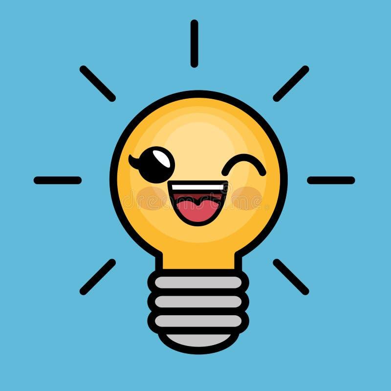 Download Caractère D'idée De Lumière D'ampoule Grand Illustration de Vecteur - Illustration du comique, créativité: 87702581