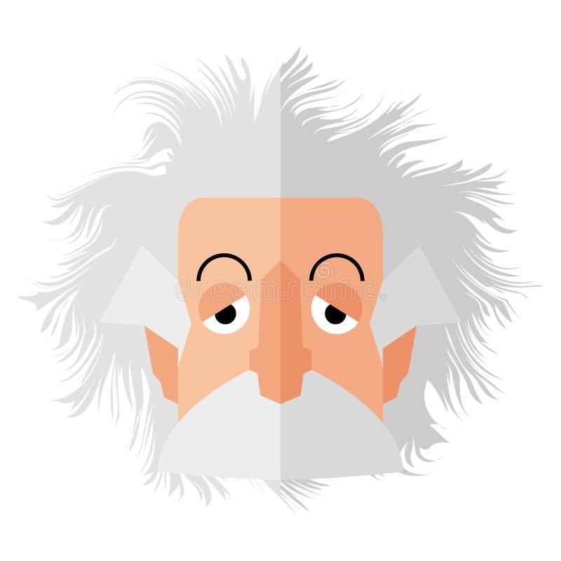 Caractère d'isolement d'Einstein illustration stock