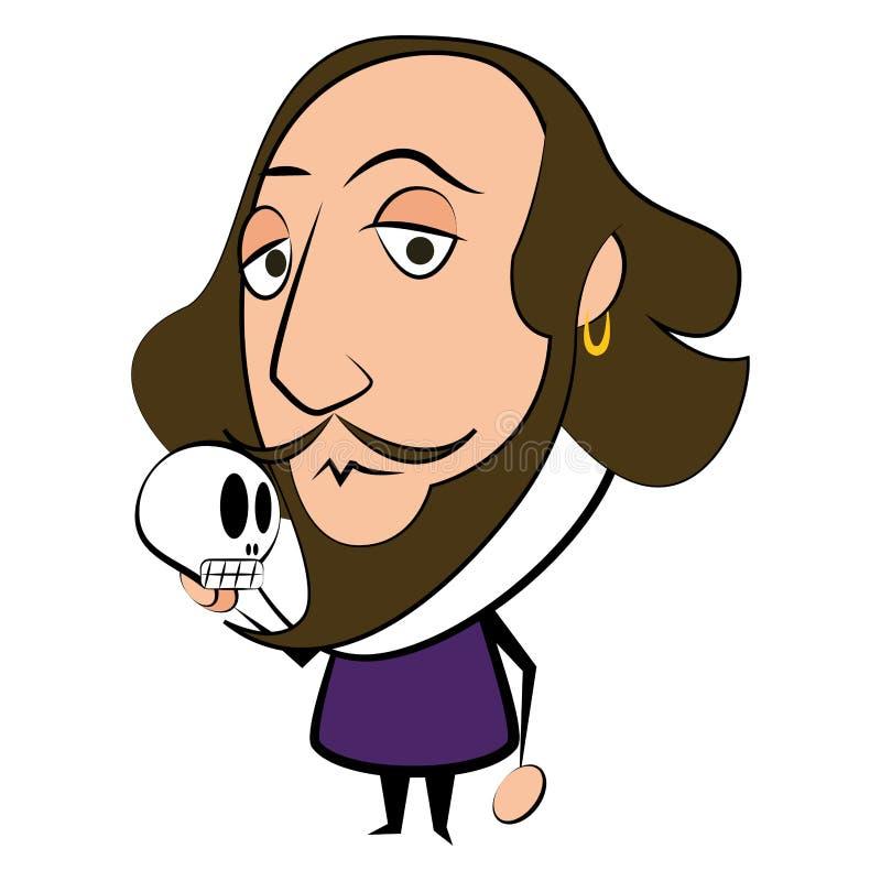 Caractère d'isolement de Shakespeare illustration stock