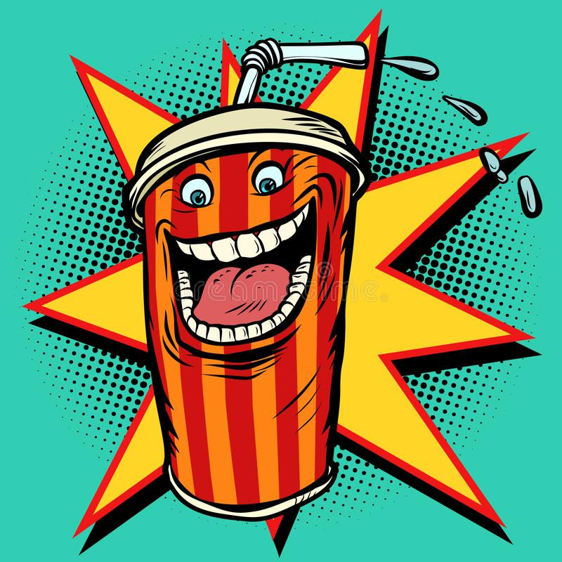 Caractère de boissons de kola illustration libre de droits