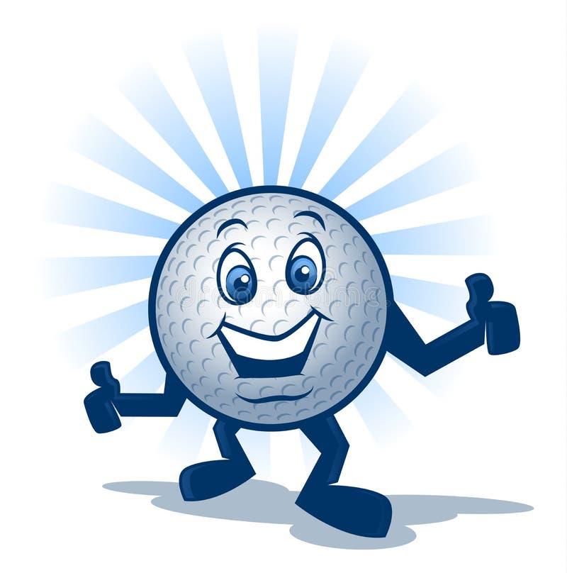 Caractère de boule de golf illustration libre de droits