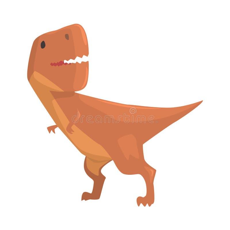 Caractère de dinosaure d'allosaurus de bande dessinée, illustration animale de vecteur de période jurassique illustration de vecteur