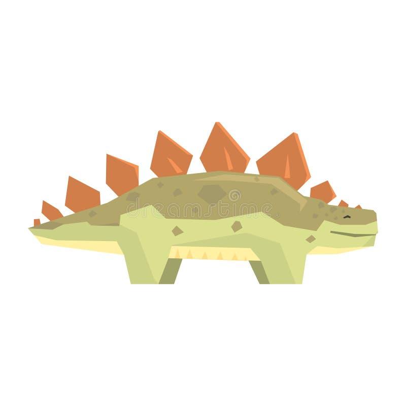 Caractère de dinosaure de stegosaurus de bande dessinée, illustration animale de vecteur de période jurassique illustration libre de droits
