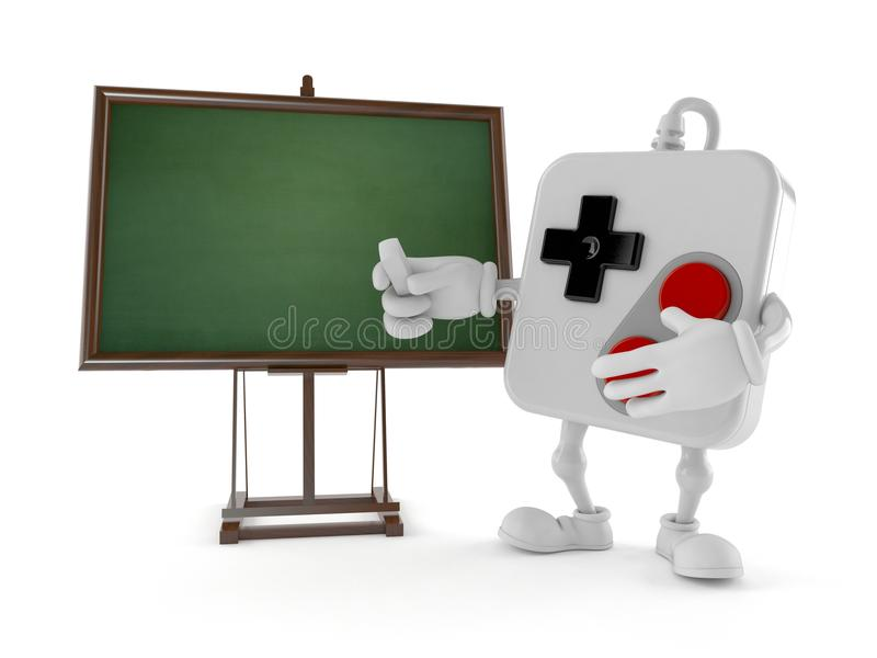 Caractère de Gamepad avec le tableau noir vide illustration de vecteur