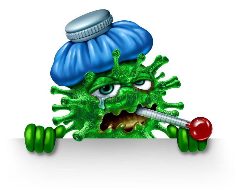 Caractère de grippe illustration de vecteur