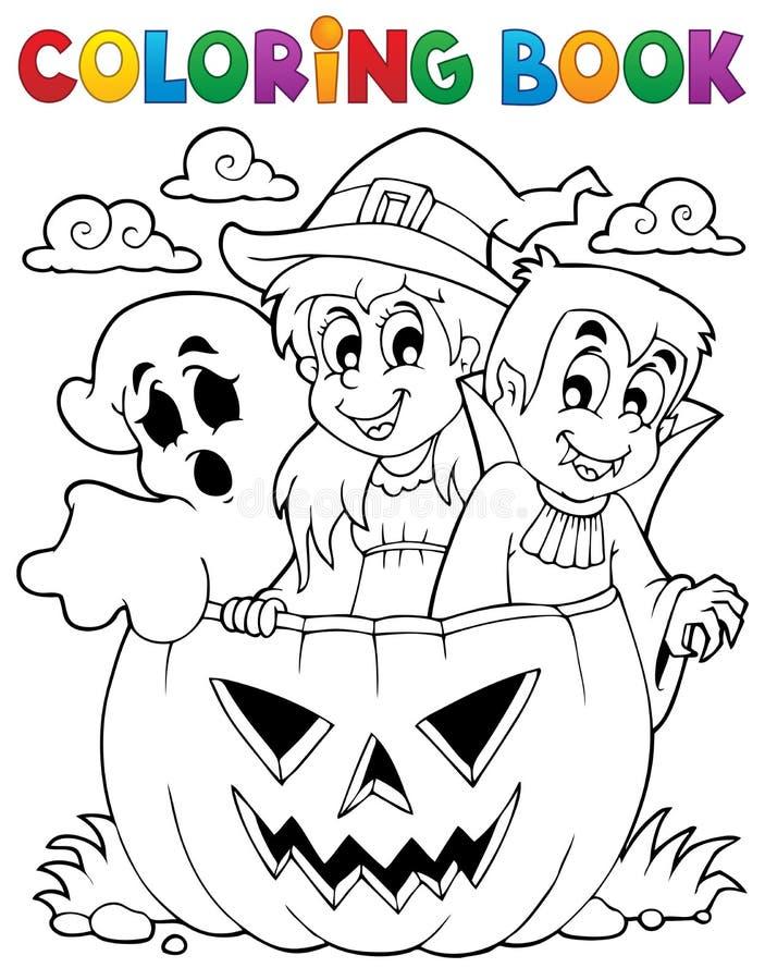 Caractère 5 de Halloween de livre de coloriage illustration libre de droits