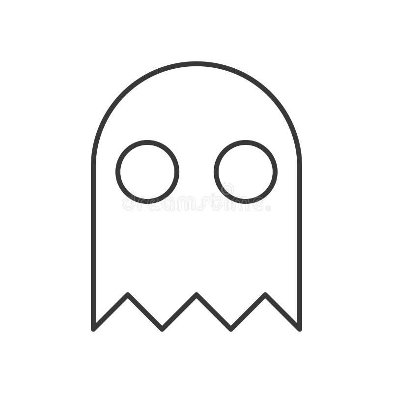 Caractère de Halloween, icône de caractère de fantôme de retraite, course editable illustration stock