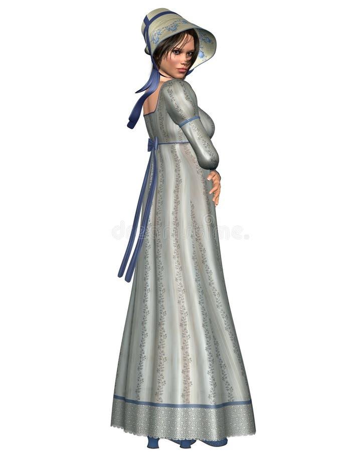 Caractère de Jane Austen - 1 illustration de vecteur