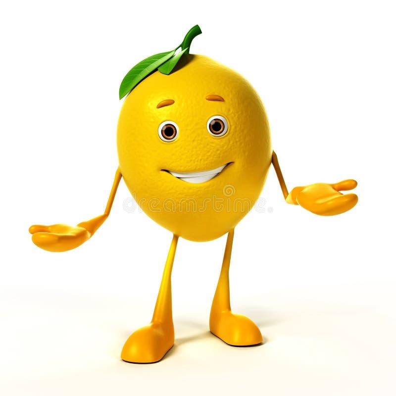 Caractère de nourriture - citron illustration libre de droits