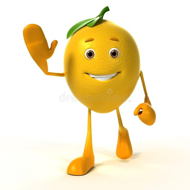 Caractère de nourriture - citron illustration de vecteur