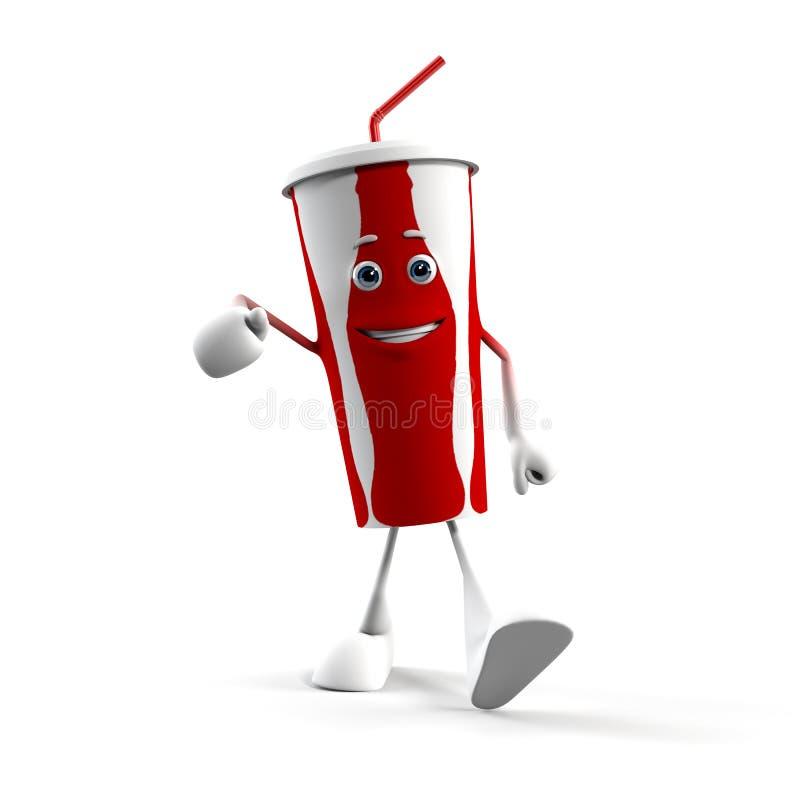 Caractère de nourriture - cuvette de kola illustration de vecteur