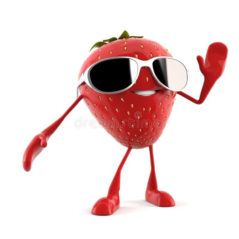 Caractère de nourriture - fraise illustration libre de droits