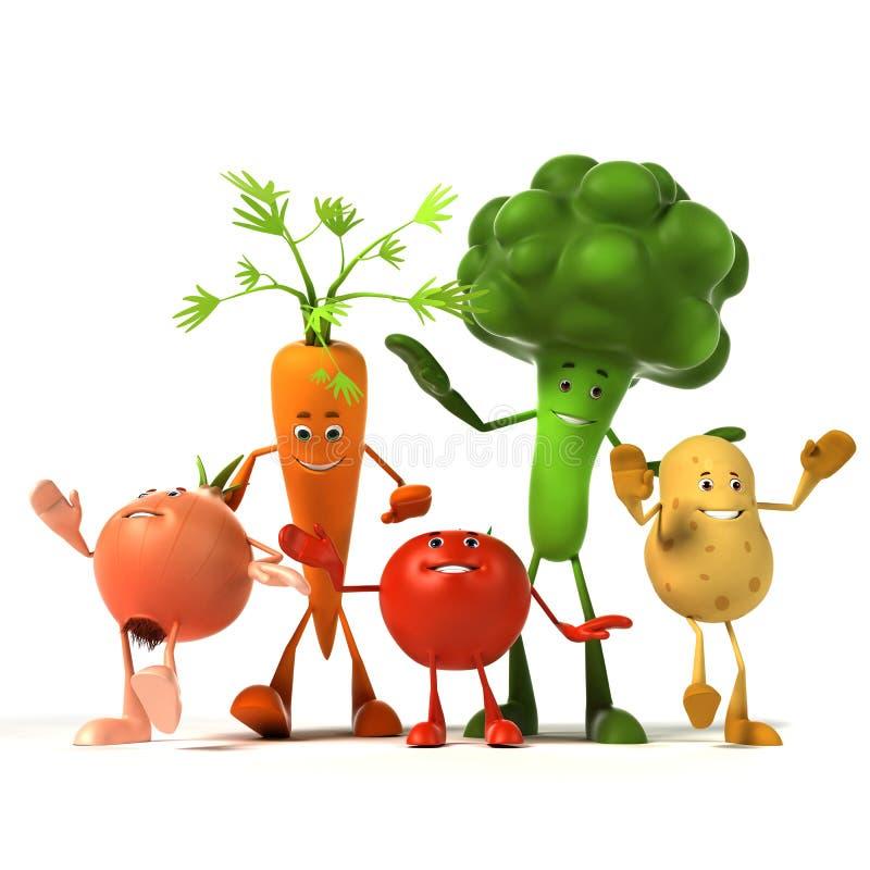 Caractère de nourriture - légumes illustration stock