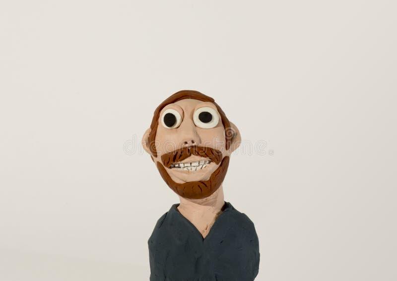 Caractère de pâte à modeler Homme avec la barbe photo libre de droits