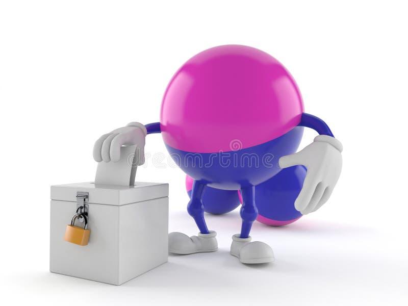 Caractère de Paintball avec le vote de vote illustration libre de droits