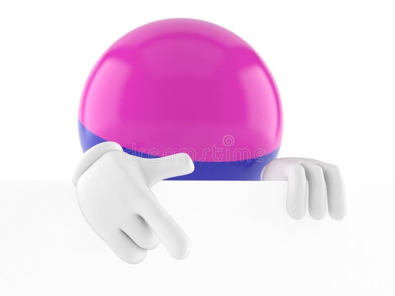 Caractère de Paintball derrière le conseil blanc illustration libre de droits