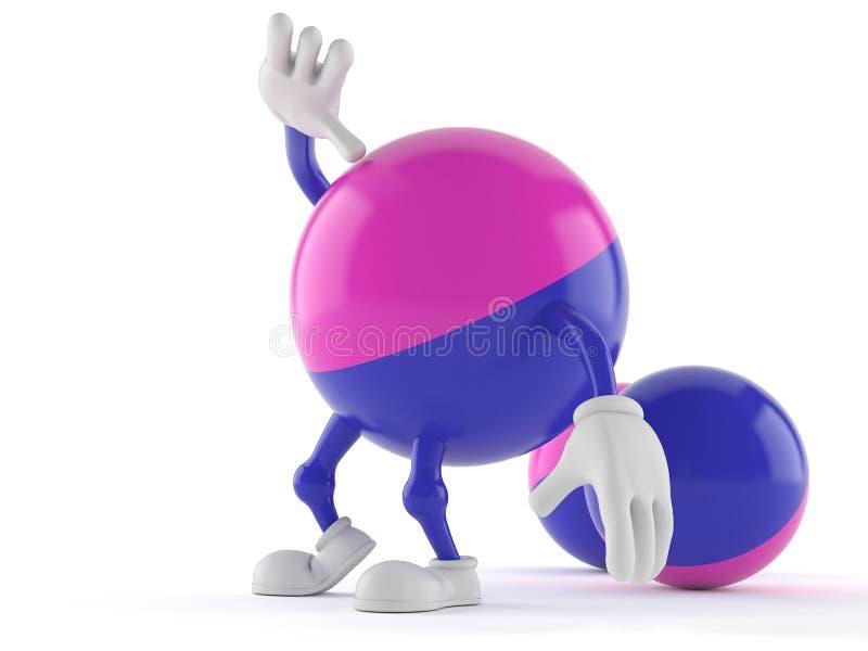 Caractère de Paintball recherchant illustration de vecteur