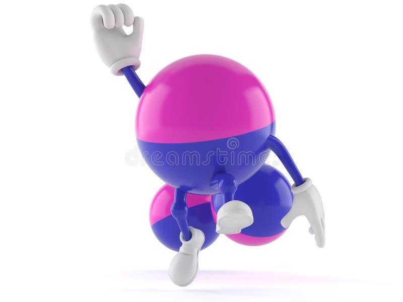 Caractère de Paintball sautant dans la joie illustration stock