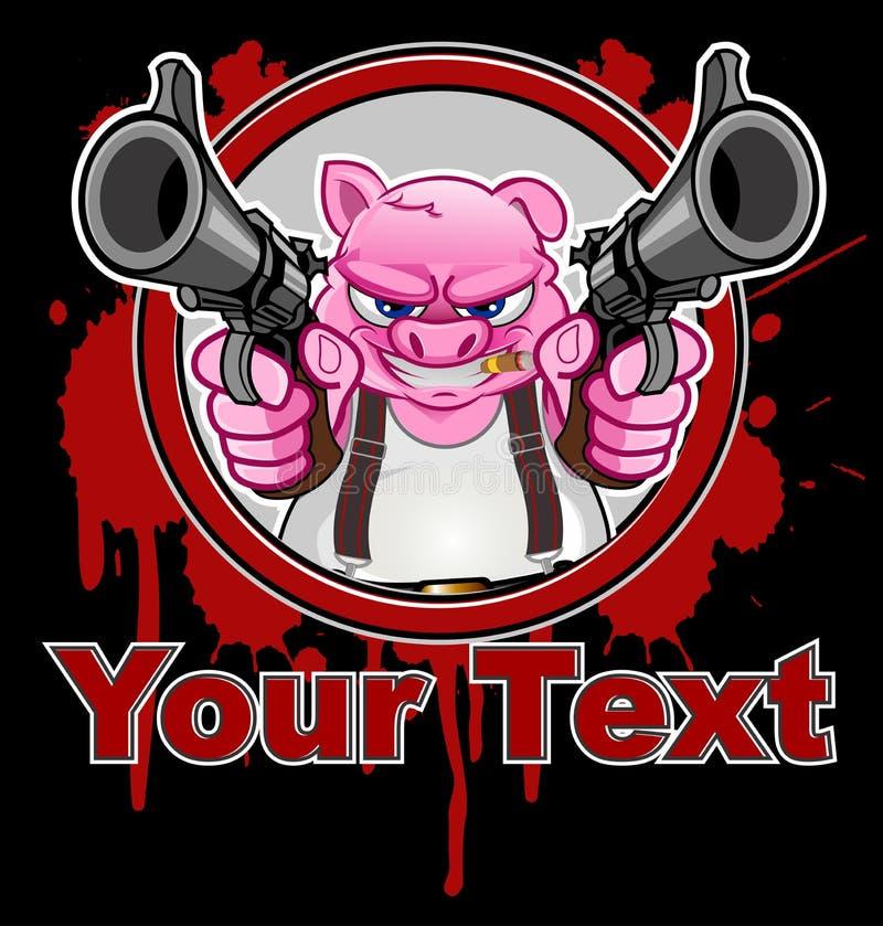 Caractère de porc ou bande dessinée de mascotte photographie stock libre de droits