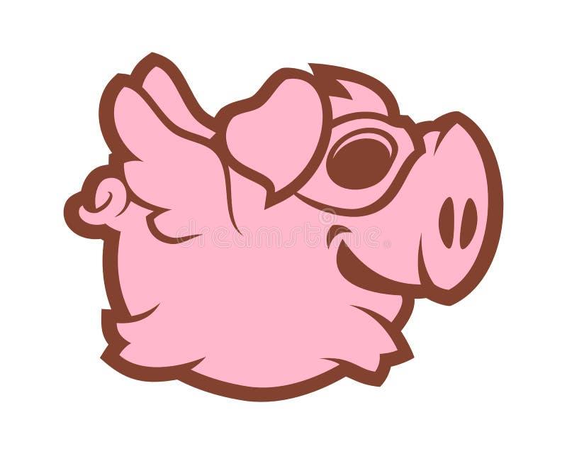 Caractère de porc de vol illustration libre de droits