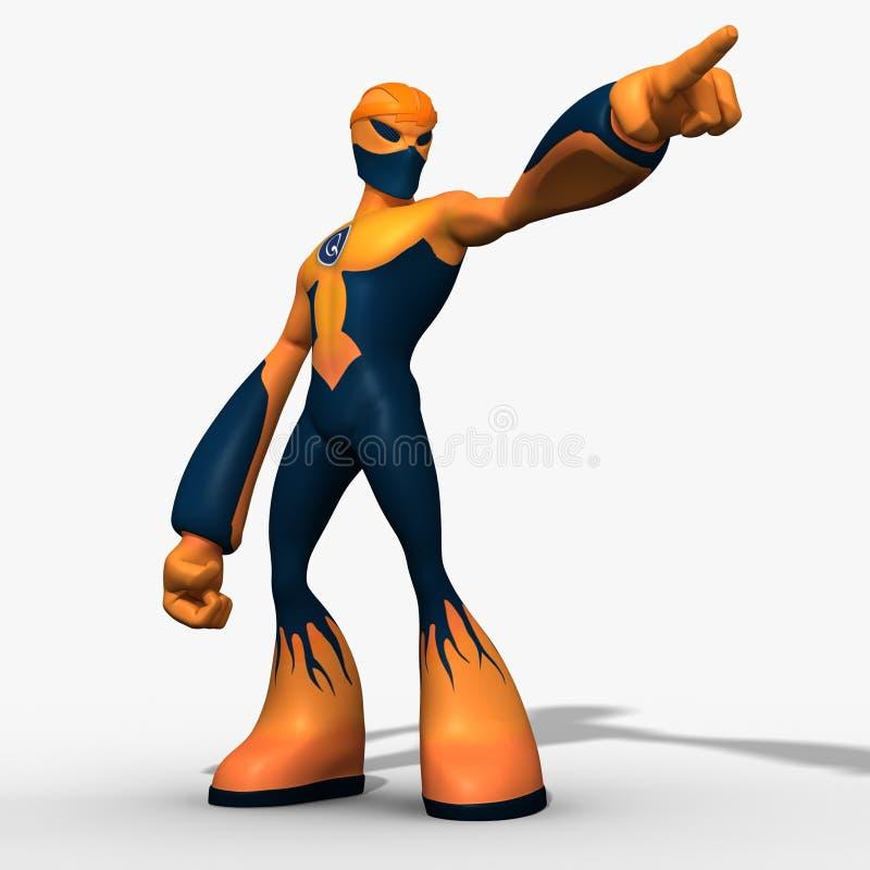 caractère de robot du cyborg 3D d'isolement sur le fond blanc illustration libre de droits